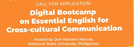 CALL FOR  APPLICATION - DIGITAL BOOTCAMP ON ESSENTIAL ENGLISH FOR CROSS-CULTURAL COMMUNICATION
